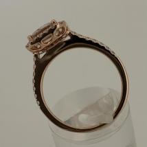 18k Rose Gold Morganite 1.75 carat Dia. .36