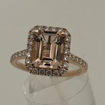 18k Rose Gold Morganite 1.75 carat Dia. .36 1611872791957